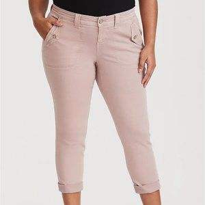 Torrid Twill Military High Rise Soft Pink Size 24 Jeans